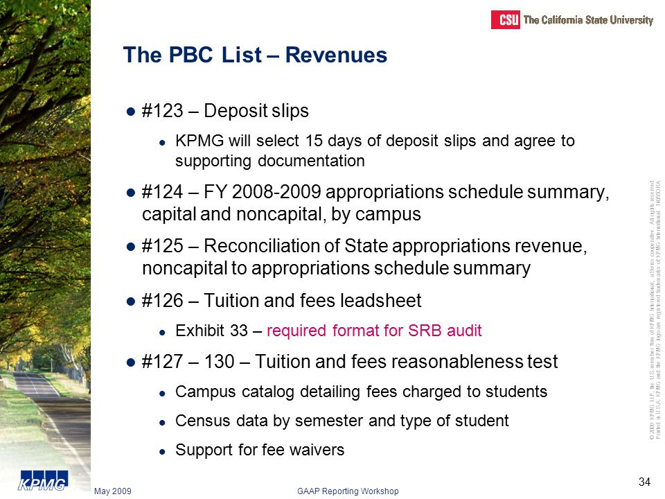 The PBC List – Revenues #123 – Deposit slips
