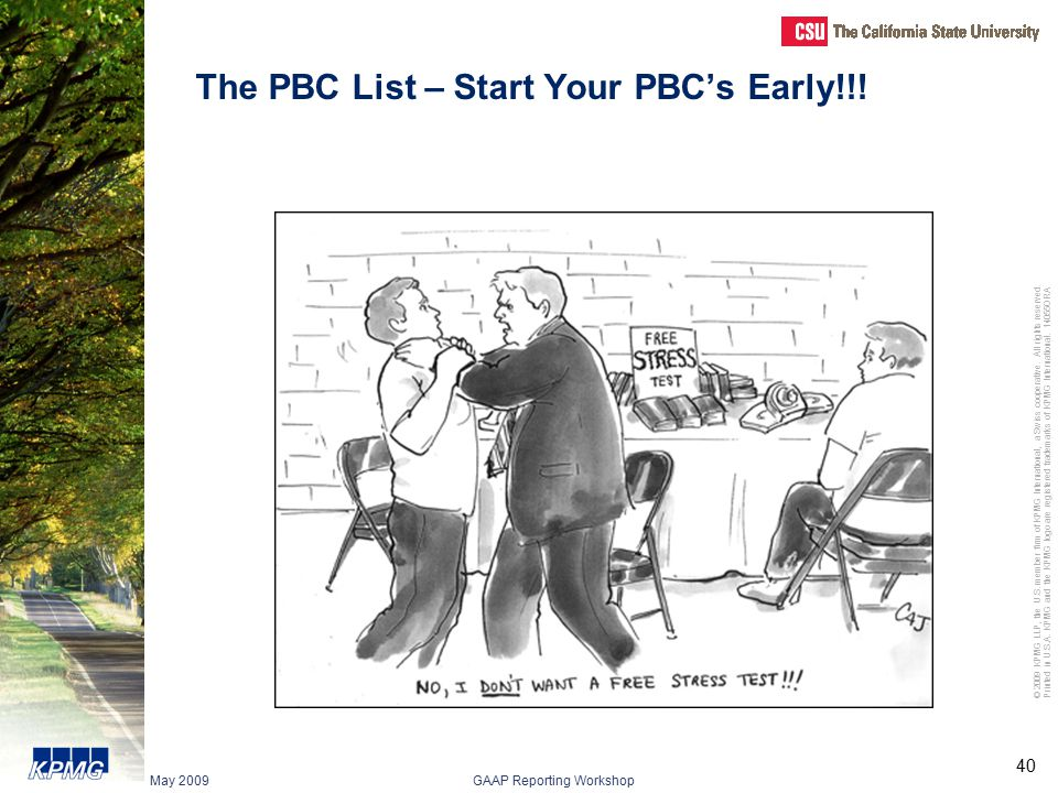 The PBC List – Start Your PBC's Early!!!