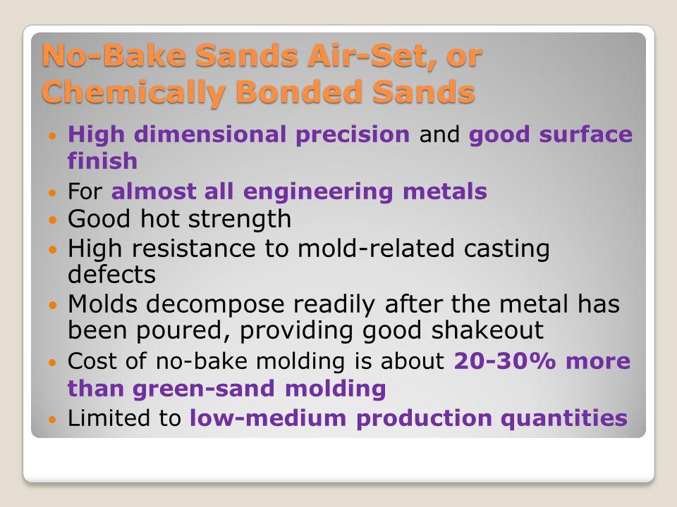 No-Bake Sands Air-Set, or Chemically Bonded Sands