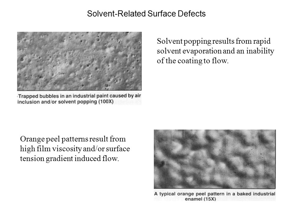 Solvent-Related Surface Defects