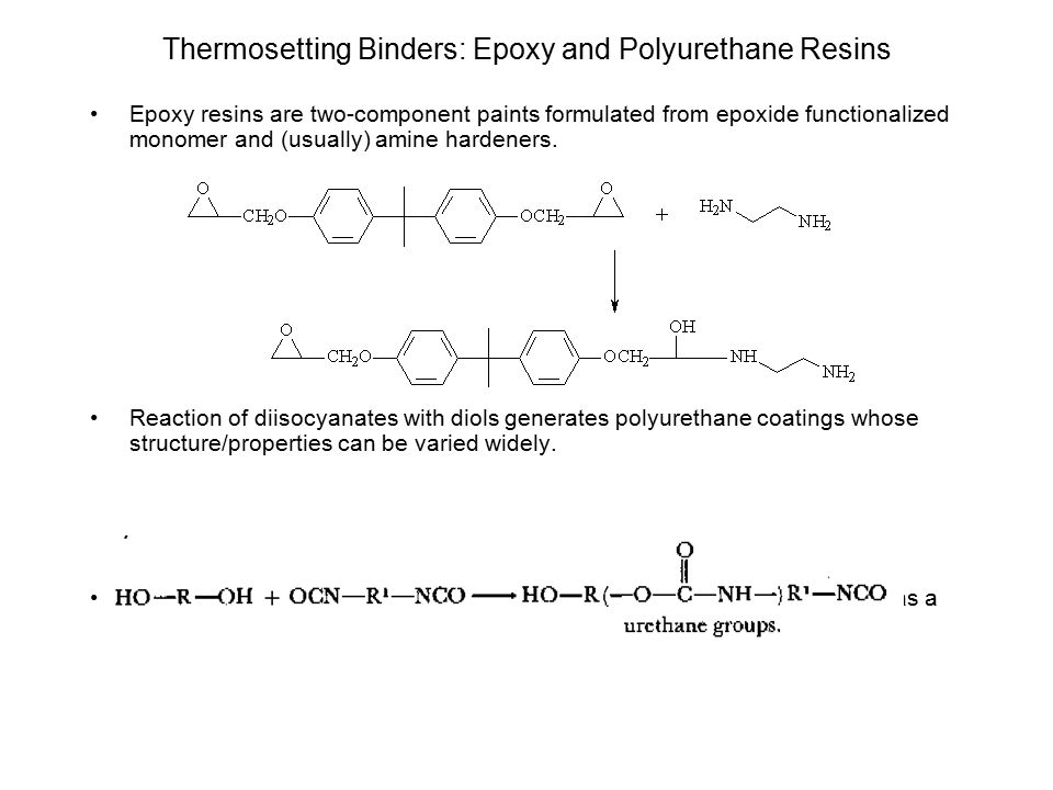 Thermosetting Binders: Epoxy and Polyurethane Resins