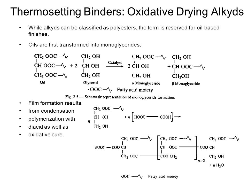 Thermosetting Binders: Oxidative Drying Alkyds