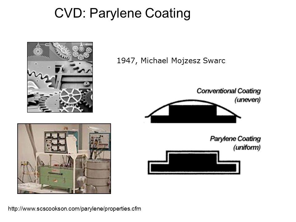 CVD: Parylene Coating 1947, Michael Mojzesz Swarc