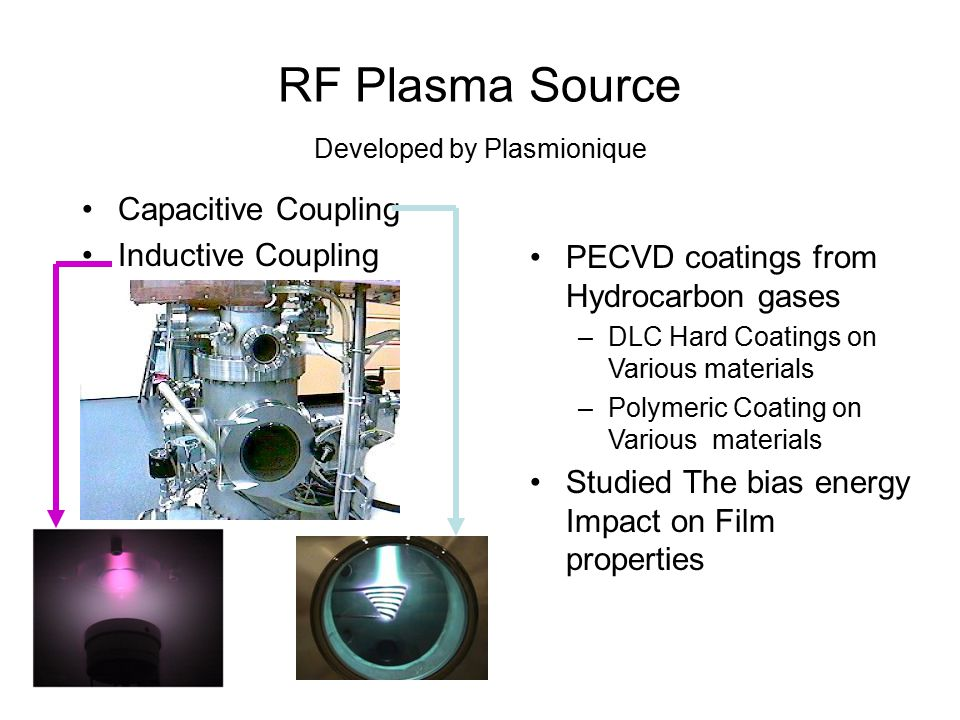 RF Plasma Source Developed by Plasmionique
