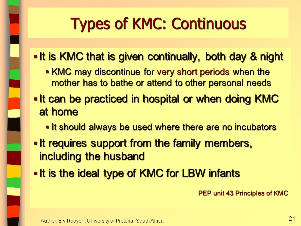 Types of KMC: Continuous