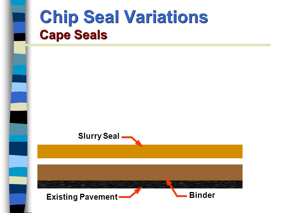 Chip Seal Variations Cape Seals