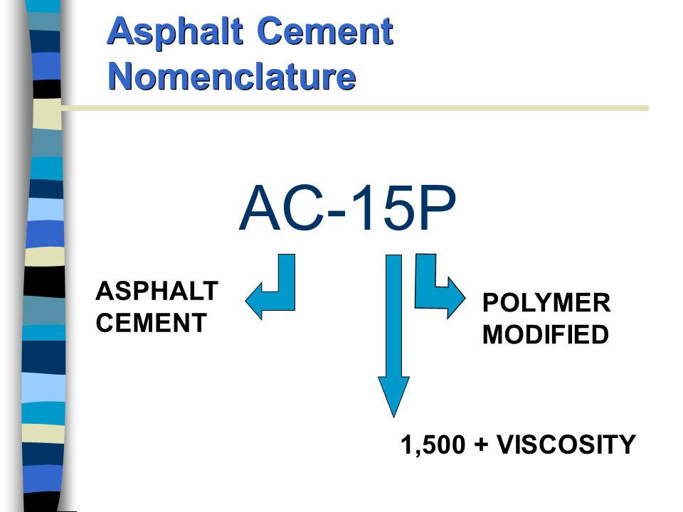 Asphalt Cement Nomenclature