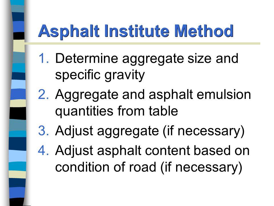 Asphalt Institute Method