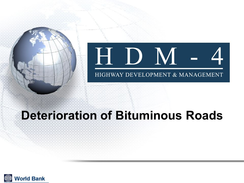 Deterioration of Bituminous Roads