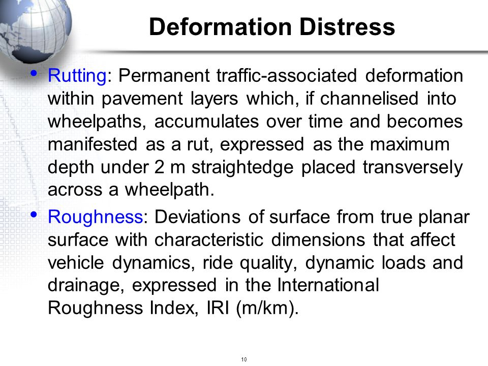 Deformation Distress