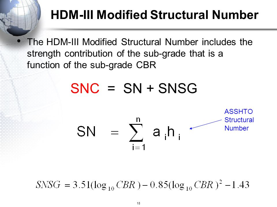 HDM-III Modified Structural Number
