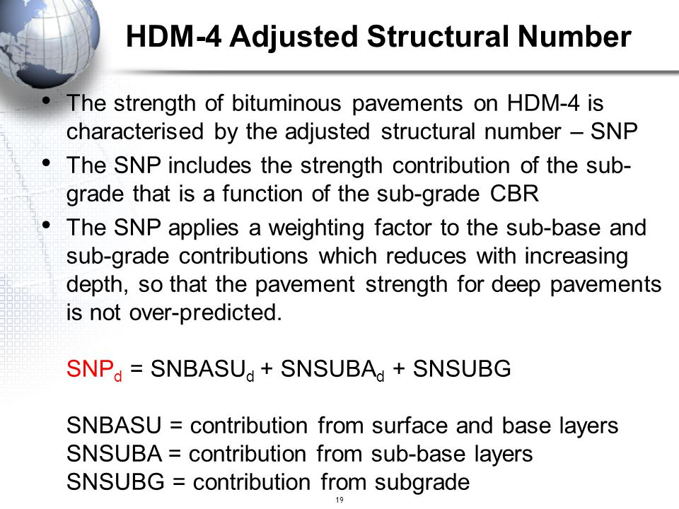 HDM-4 Adjusted Structural Number