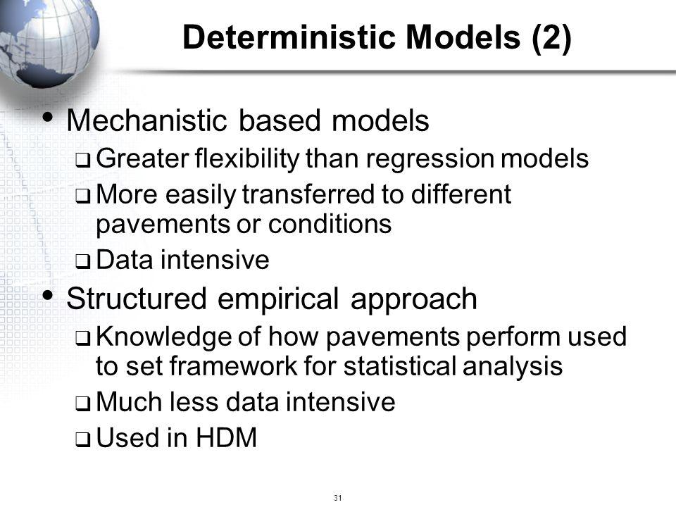 Deterministic Models (2)