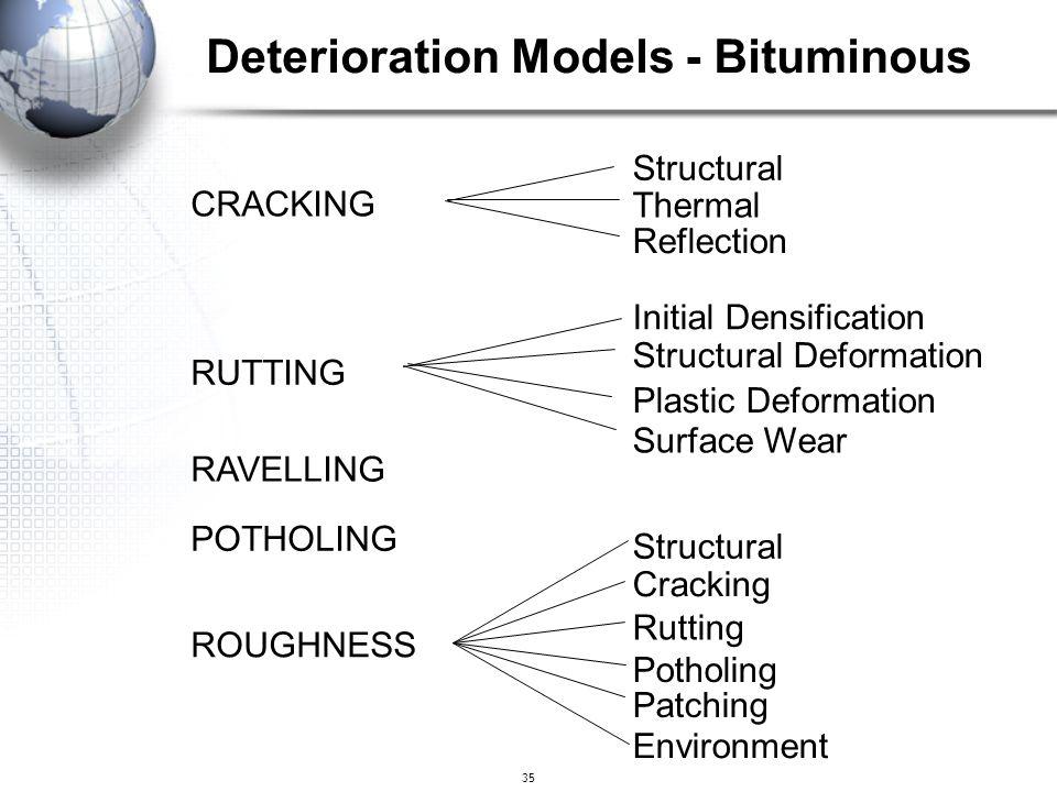 Deterioration Models - Bituminous