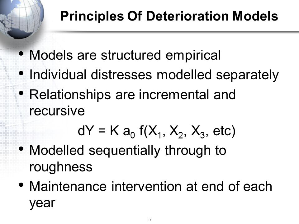 Principles Of Deterioration Models
