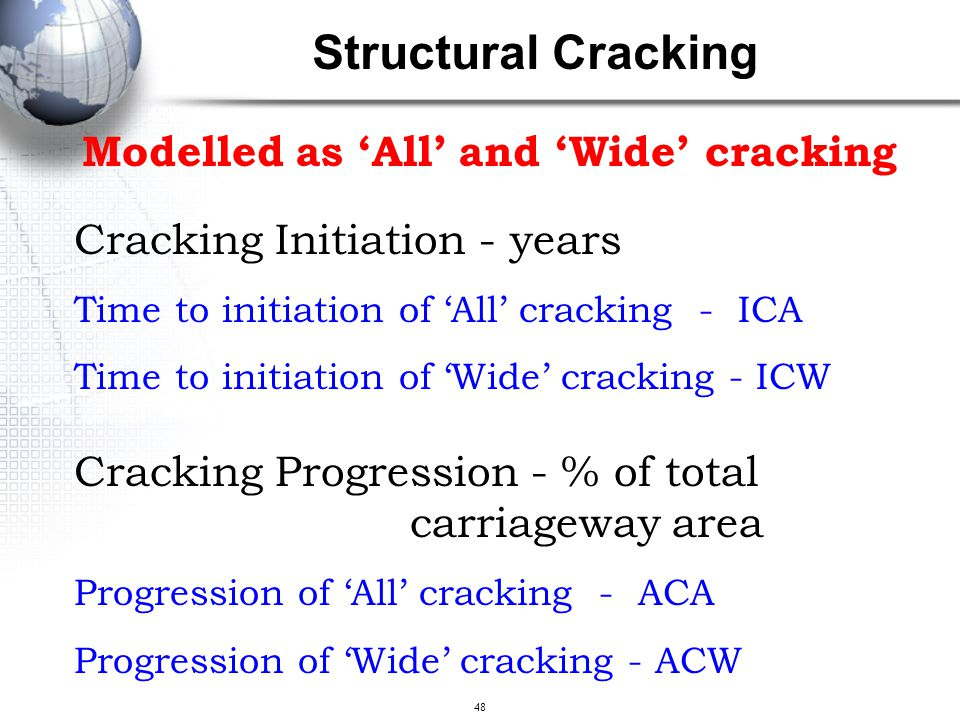 Structural Cracking Modelled as 'All' and 'Wide' cracking
