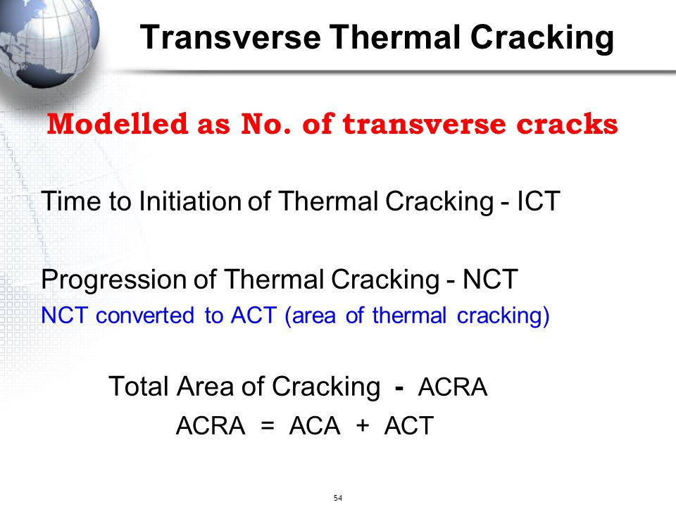 Transverse Thermal Cracking