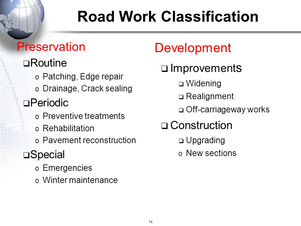 Road Work Classification
