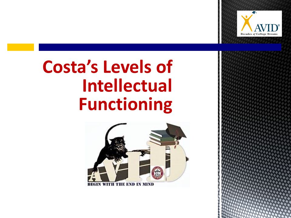 Costa's Levels of Intellectual Functioning