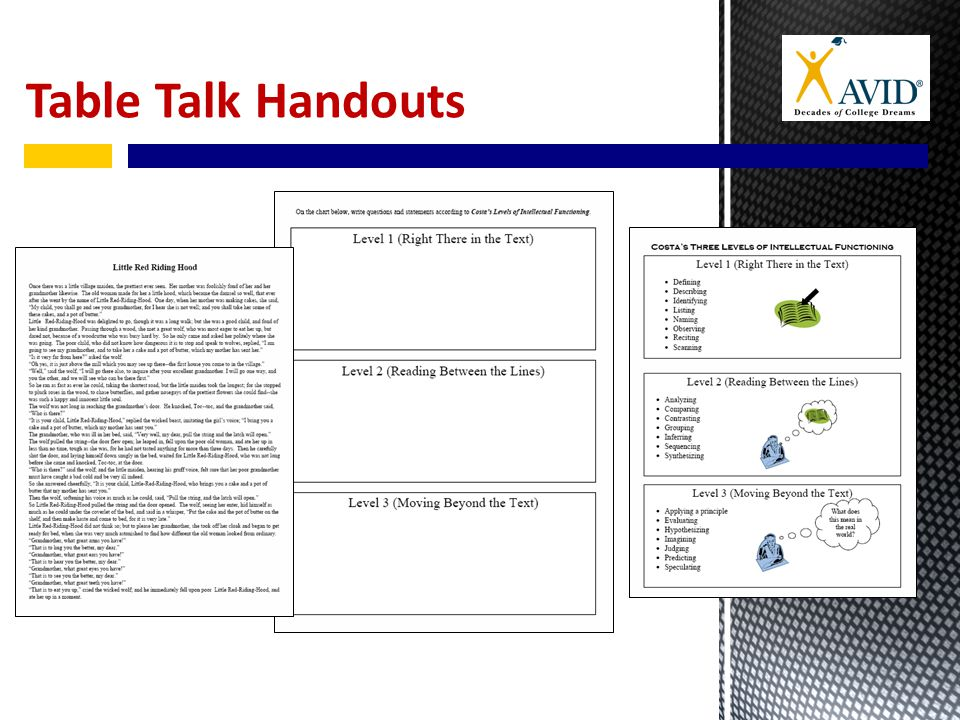 Table Talk Handouts