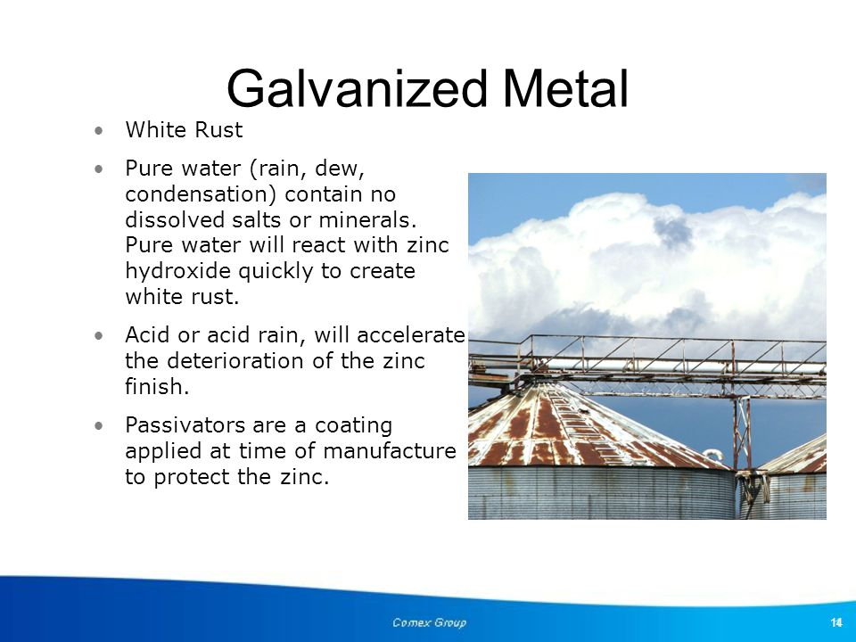 Galvanized Metal White Rust