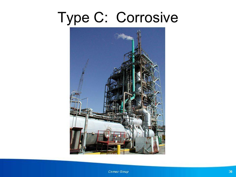 Type C: Corrosive 30