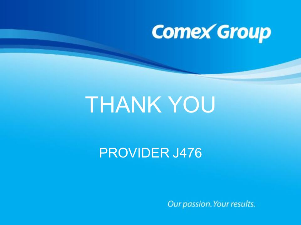 THANK YOU PROVIDER J476 Corrosion & Premature Coating Failures in Metal 38