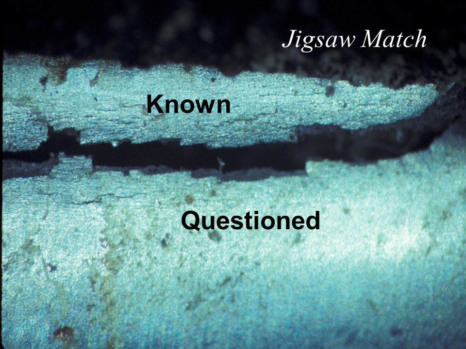 Jigsaw Match Known Questioned