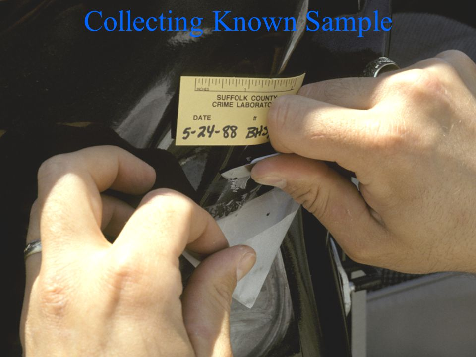 Collecting Known Sample