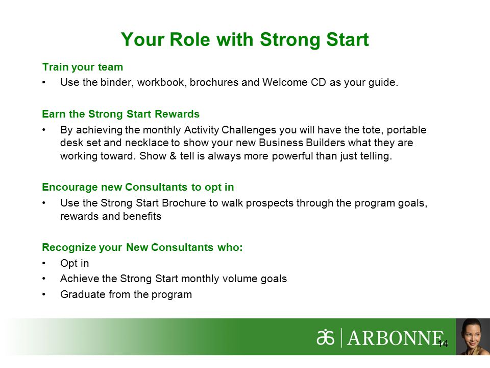 Your Role with Strong Start