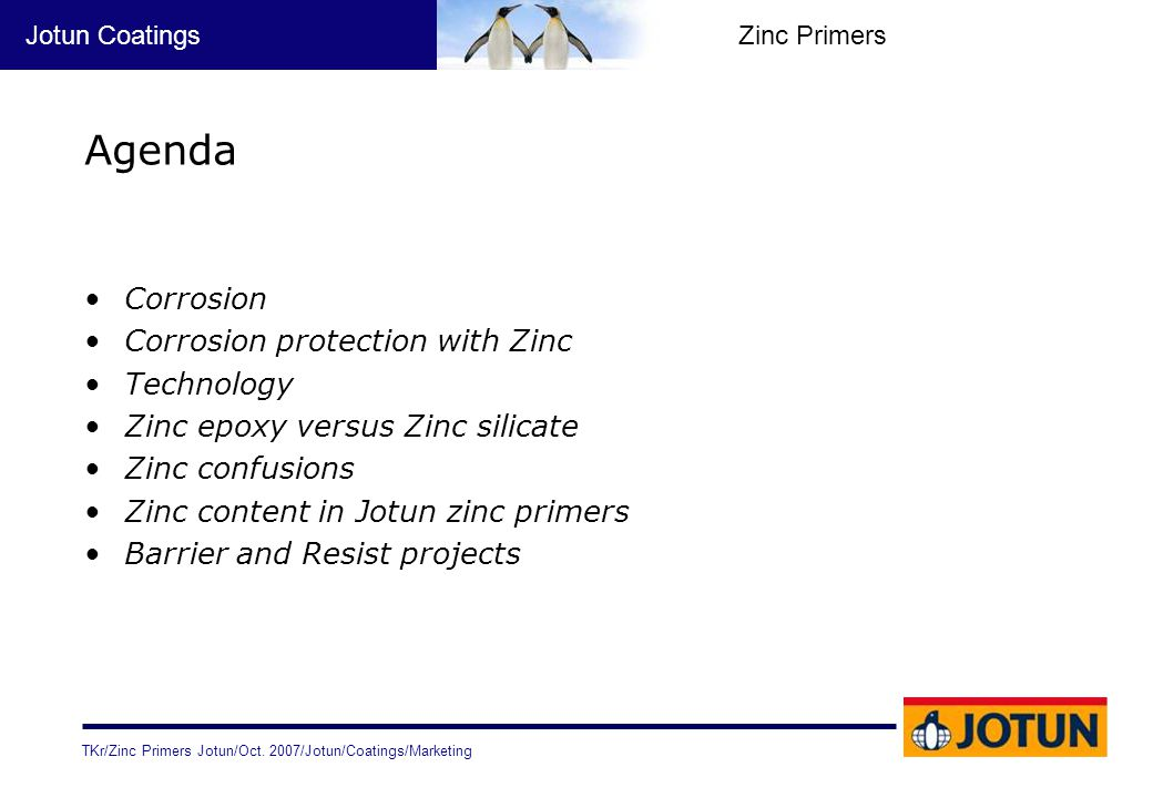 Agenda Corrosion Corrosion protection with Zinc Technology