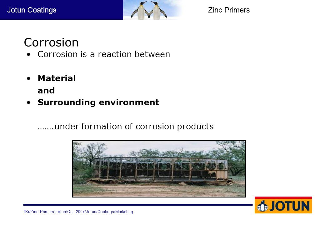 Corrosion Corrosion is a reaction between Material and