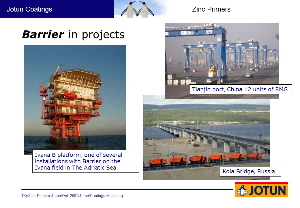 Barrier in projects Tianjin port, China 12 units of RMG