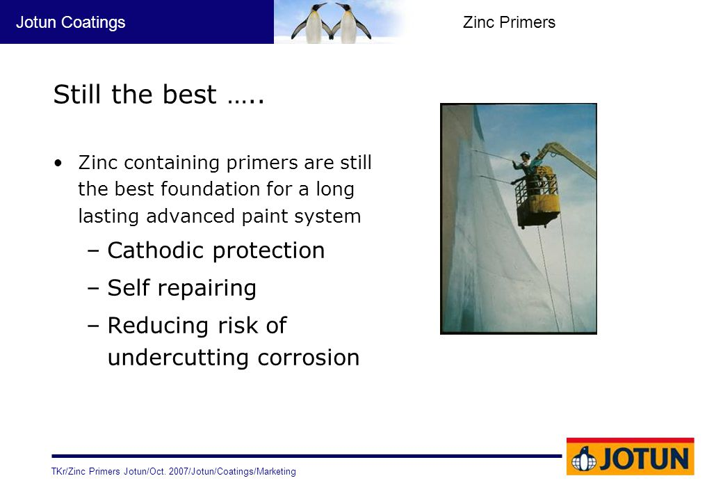 Still the best ….. Cathodic protection Self repairing