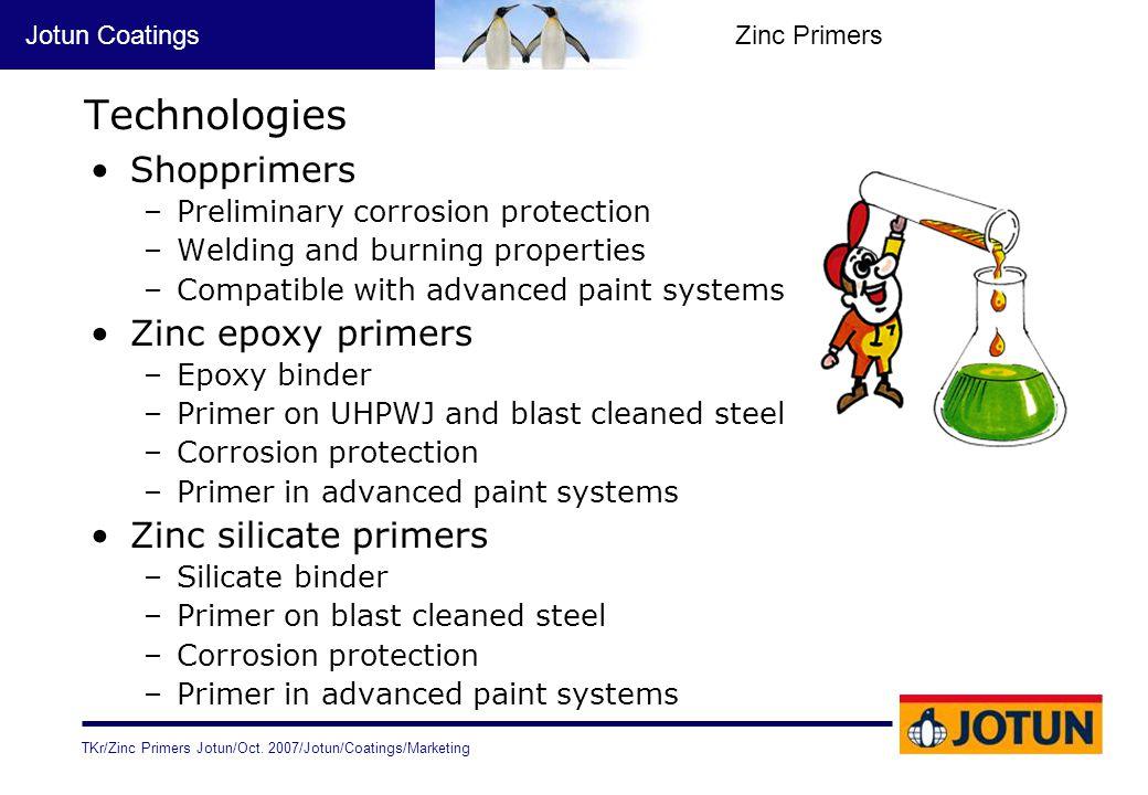 Technologies Shopprimers Zinc epoxy primers Zinc silicate primers