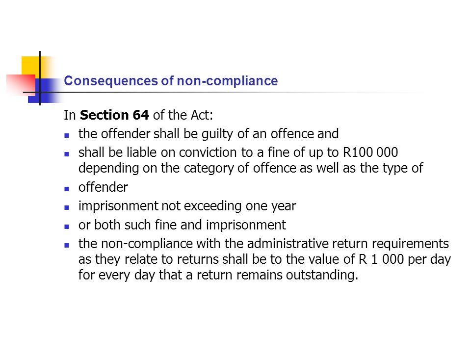 Consequences of non-compliance