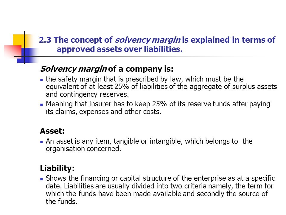 Solvency margin of a company is:
