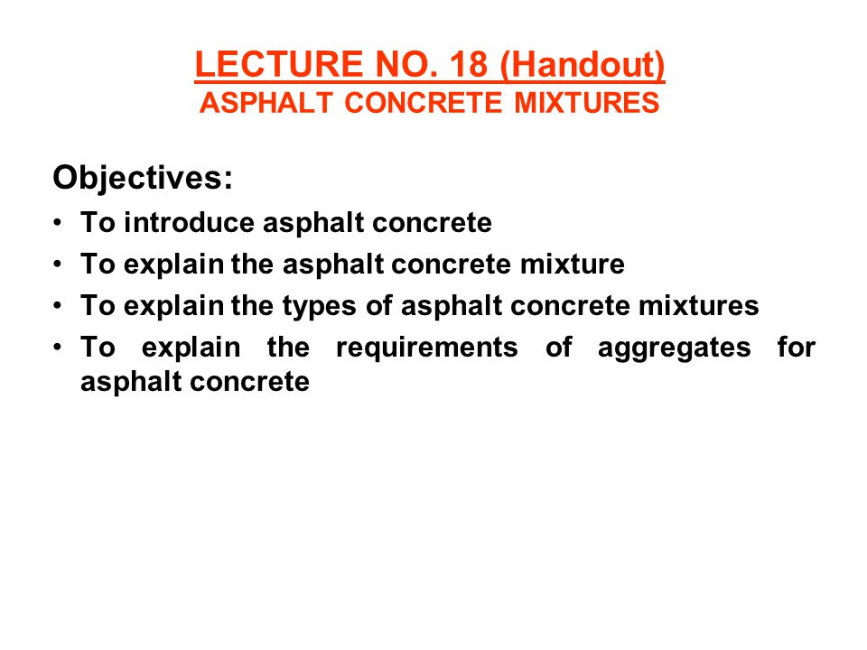 aggregates for concrete handout View notes - high performance concrete mix design handoutpdf from school of u23357 at uni portsmouth reminder of mix design for normal concrete in normal mix design procedures, the.