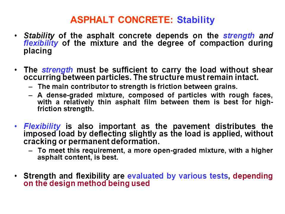 ASPHALT CONCRETE: Stability