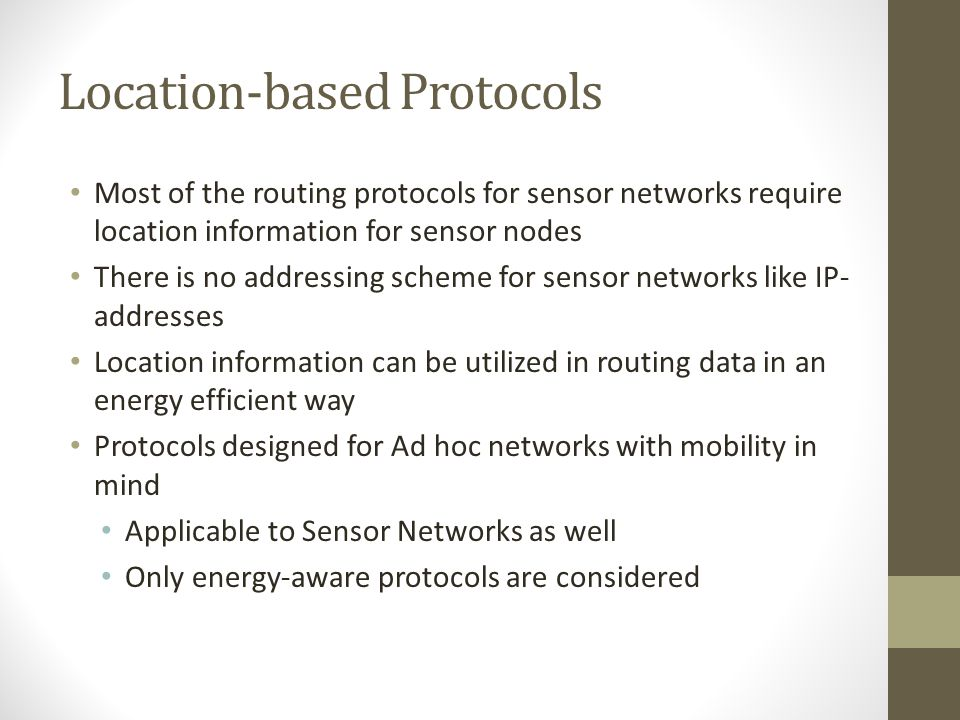 Location-based Protocols