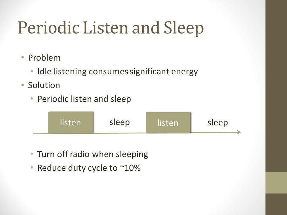 Periodic Listen and Sleep