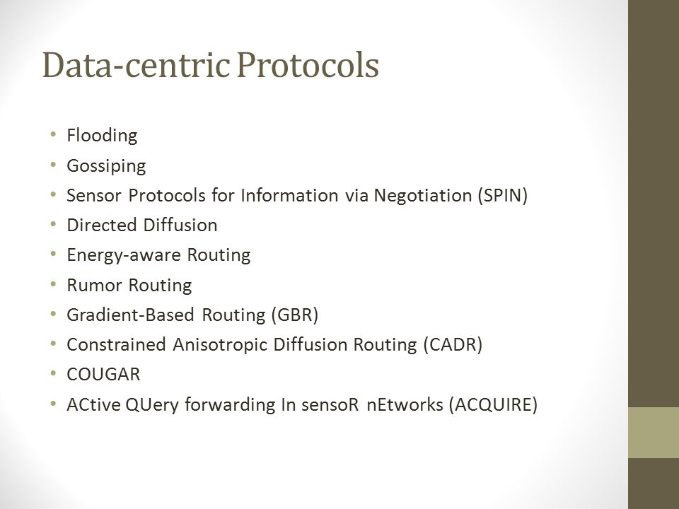 Data-centric Protocols