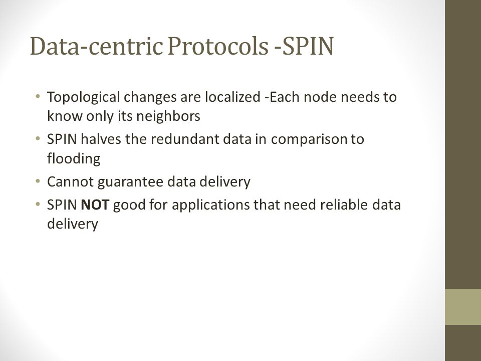 Data-centric Protocols -SPIN