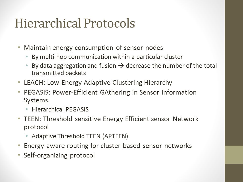 Hierarchical Protocols