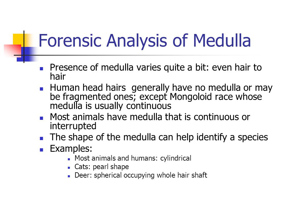 Forensic Analysis of Medulla
