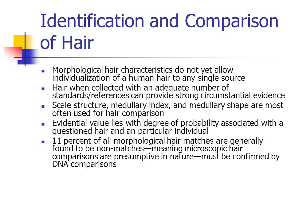 Identification and Comparison of Hair
