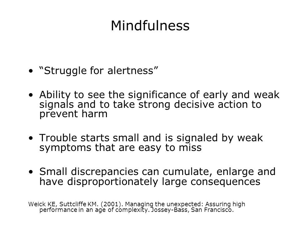 Mindfulness Struggle for alertness