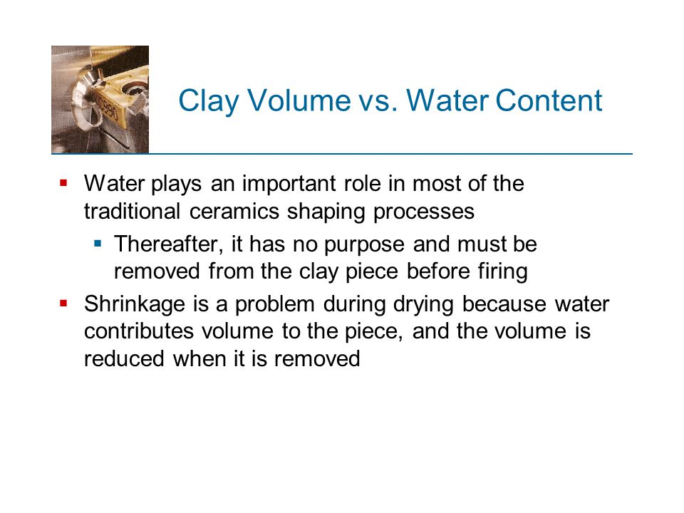 Clay Volume vs. Water Content