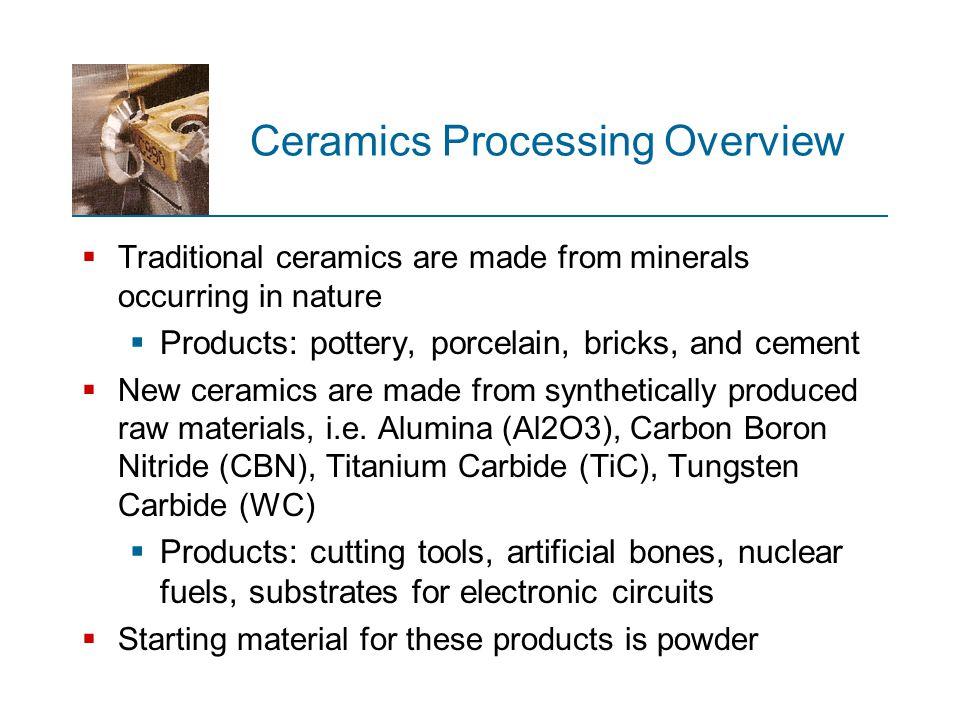 Ceramics Processing Overview