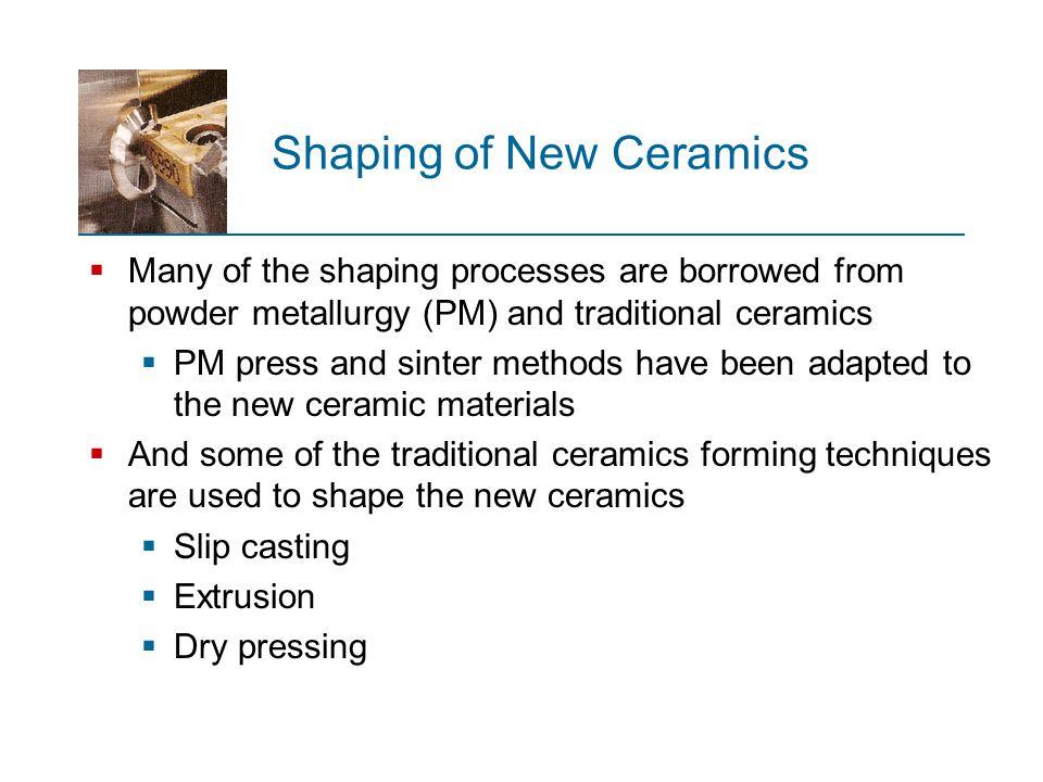 Shaping of New Ceramics